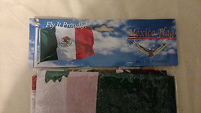 Mexico Flag 3ft x 5ft polyester brand new in bag sealed free shipping