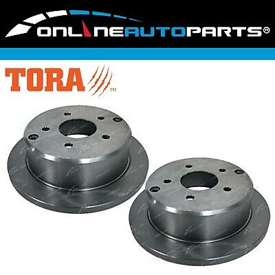2 Rear Disc Brake Rotors suits Toyota Camry ACV36R MCV36R 2002-2006 4cyl + V6