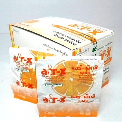 AIR-X Orange Flavoured Anti flatulence colic Wind in Stomach 80mg 4 tabletsX6