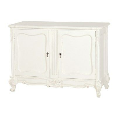 New Coach House Chateau Antique White French 2 Door Base / Sideboard