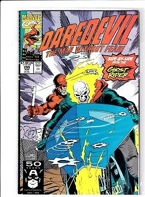 Marvel Comics Daredevil #295 (Guest With The Ghost Rider)  Mint Never Been Read