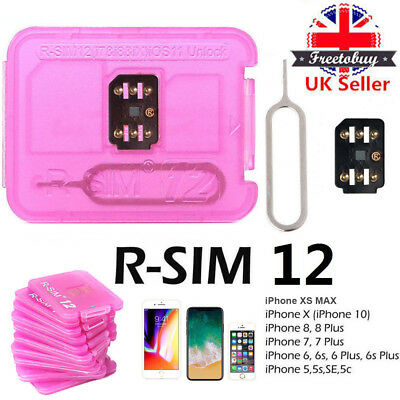UK RSIM 12 2018 Newest R-SIM Nano Unlock Card For iPhone X/8/7/6/5S 4G ALL iOS
