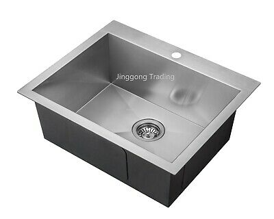 Handmade Stainless Steel Kitchen Sink /Laundry Tub with Tap Hole (62 x51 x 24cm)
