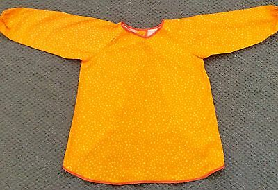 Gorgeous Handmade Starry Orange Art Smock  AGE 4-7 Perfect For School Or Home