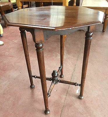 Octagonal Edwardian Mahogany Occasional Table