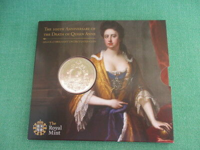 Royal Mint 2014 Queen Anne £5 Coin Pack