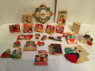Vintage Valentines Day Cards Lot Of 23 Raphael Tuck Germany Usa