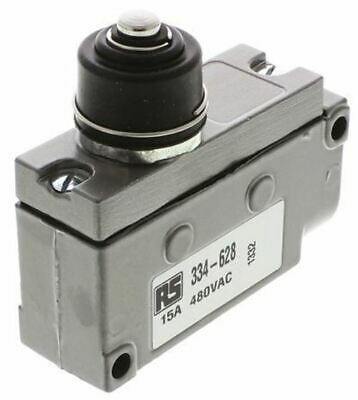 SPDT-NO/NC Plunger Microswitch, 15 A @ 125 V ac