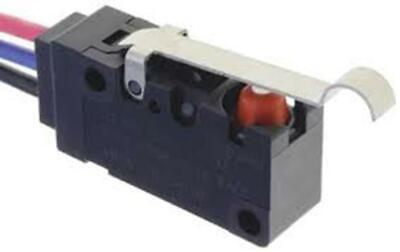 SPDT-NO/NC Simulated Roller Lever Microswitch, 100 mA @ 30 V dc