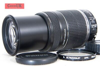 Canon EF-S 55-250mm IS Telephoto Zoom Lens + Ultra Violet Filter *Free P&P*