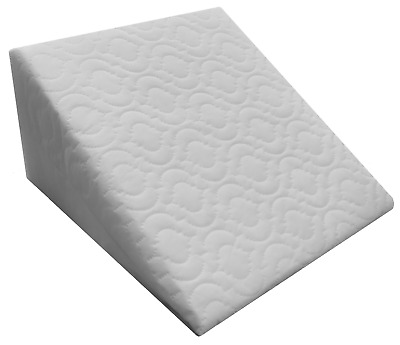 Large Acid Reflux Flex Support Bed Foam Wedge Pillow with Luxury Quilted Cover