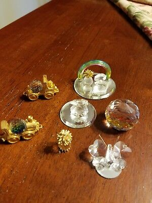 Crysyal minitures - lot of 7 pieces