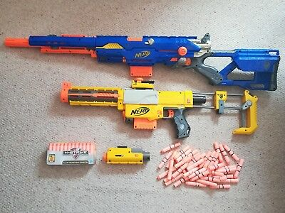 Bundle of two Nerf guns with extras