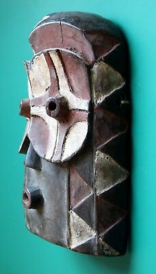 Authentic African wooden tribal mask Africa