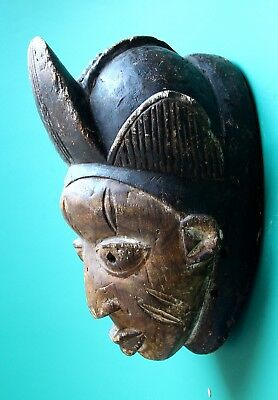 Authentic African wooden tribal mask Africa Woman