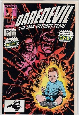 Marvel Comics Daredevil #264 (Featuring The Deadly Owl)  Mint Never Been Read