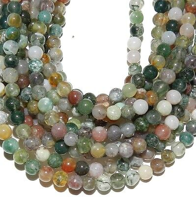 """GR440 Fancy Mixed Assorted Color 4mm Round Pebble Agate Gemstone Beads 16"""""""