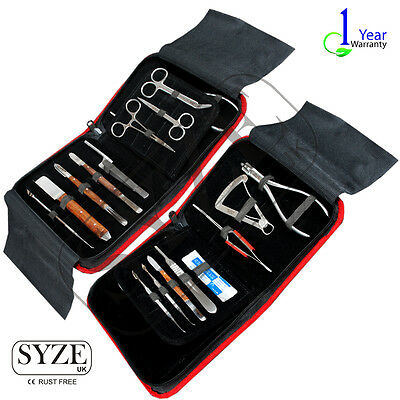 Dental Lab Technician Tools Kit Wax Modeling Carvers Mixing Spatula 16 Pcs Set