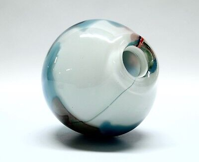 Signed T. Hamlin ? Hand Blown Studio Art Glass
