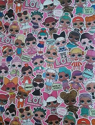 LOL Gift Wrapping Paper LOL Surprise L.O.L Honey Bee Dolls Mermaid sheets