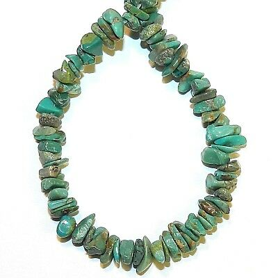"""NG2760fd Green Turquoise Small 4mm - 8mm Gemstone Chip Beads 15"""""""