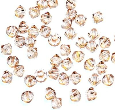 SCB379 Vintage Rose Pink 4mm Faceted Xilion Bicone Swarovski Crystal Beads 48pc