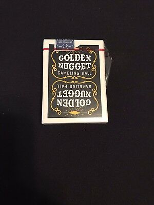 New Black Golden Nugget Deck Of Playing Cards Sealed
