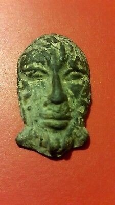 Ancient Roman bronze amulet brooch .very rare.