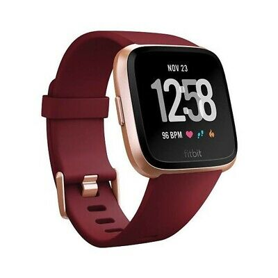 Fitbit Versa Fitness Smartwatch - Ruby/Rose Gold