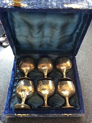 Silver plate small goblets
