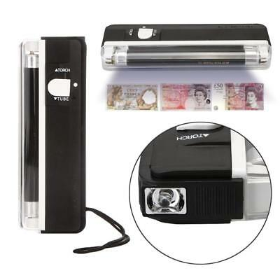 Mini Portable UV Light For Fake Forged Bank Note Money Checker Detector Torch