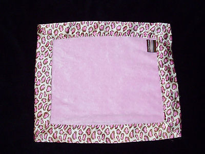 Blankets and & Beyond Pink Brown Minky Dot Leopard Cheetah Baby Blanket Satin