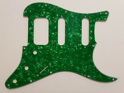 Stratocaster HSS guitar pickguard 4ply green pearl fits fender brand new
