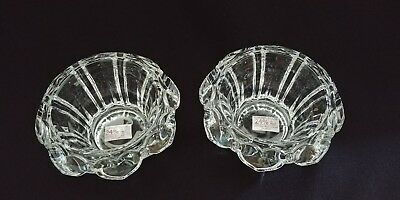 Vintage Cristal D'arques 24% Lead Crystal Pair-Sweetheart Candle Holders France