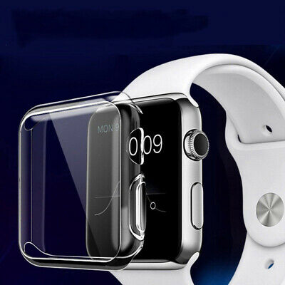 For Apple Watch Series 5 4 3 2 1 Soft Rubber Protective Case Cover 38/42/44/40mm