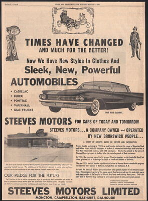 1960 Canadian Buick ad LeSabre Sedan Steeves Motors Moncton New Brunswick