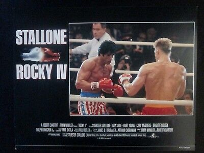 1985 Original Rocky IV Classic Boxing 11x14 Movie Lobby Card Sylvester Stallone