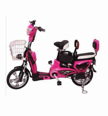 YQ 500w/48v Two Seater Mini City Coco Electric Motorcycle Ebike Scooter NEW