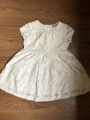 Baby Girls Next Off White Lace Dress Age 1 1/2-2 18-24 M Ex.Condition