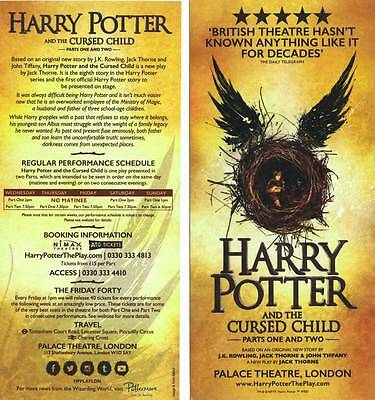 Theater Flyer: HARRY POTTER AND THE CURSED CHILD - London