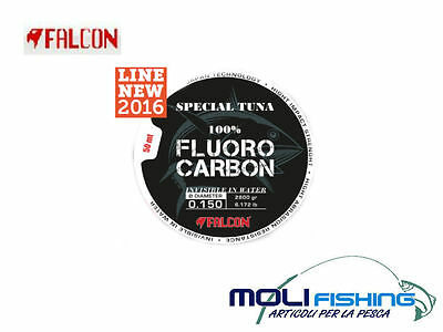 NYLON FALCON SPECIAL TUNA 100% FLUOROCARBON 50m DIAMTRI CHOICE DRIFTING NEW16