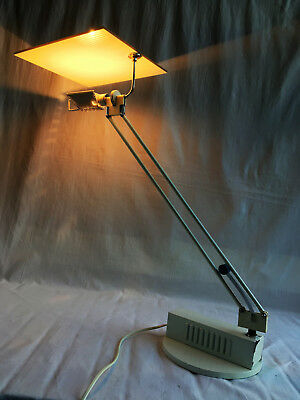 RARE Mid Century Post Modernist Aluminor W.O Desk Lamp by Sach Ketoff 1985