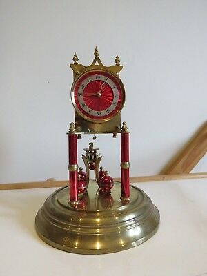 aniiversary torsion 400 days clock for spares or repair with red face