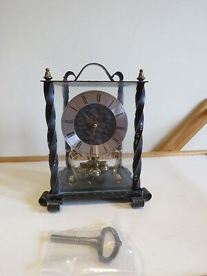 anniversary torsion clock for spares or repair + key