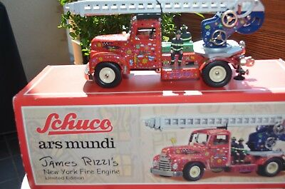 Schuco - James Rizzi`s - New York Fire Engine, neu