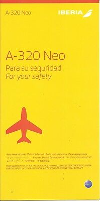 Iberia A-320 NEO Safety Card