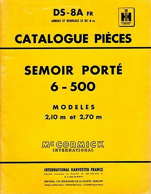Catalogue Pièces Mc cormick International semoir porté 6-500