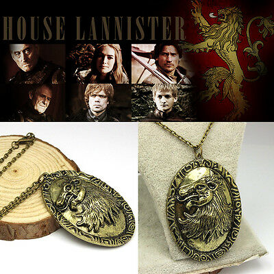 Game of Thrones inspired 10 pcs lot Cersei Lannister Lion Necklace