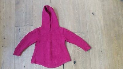 """""""Nutmeg"""" childs knitted hooded jumper Red Size 4-5yrs"""
