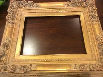 Antique Gold Gilded Victorian Picture Wood Frame